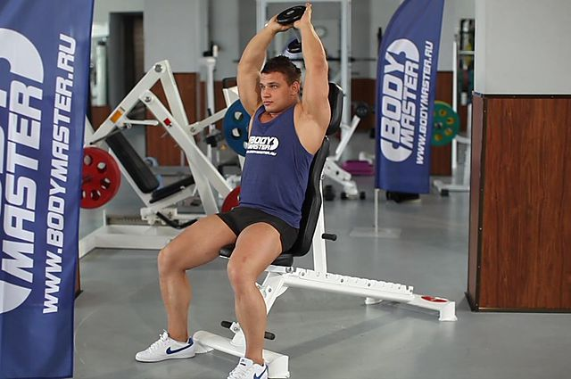 Photo of Seated Triceps Press exercise