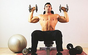 Home training — Arms and Chest with dumbbells and a horizontal bar (for experienced)